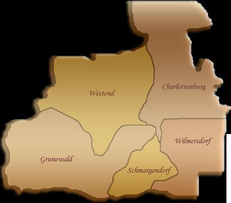 Berlin-Karte Charlottenburg-Wilmersdorf