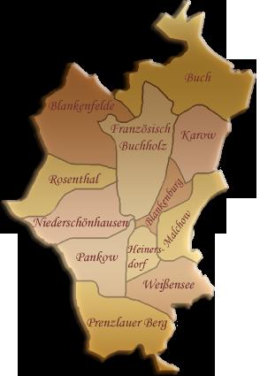 Berlin-Karte Pankow