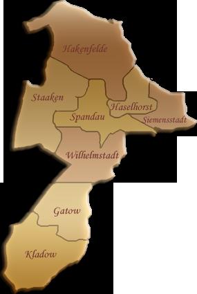 Berlin-Karte Spandau