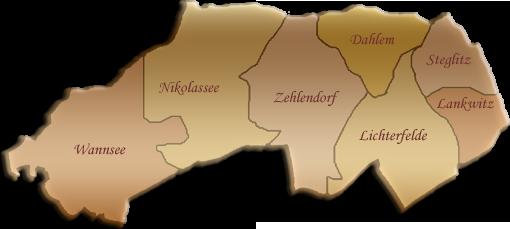 Berlin-Karte Steglitz-Zehlendorf
